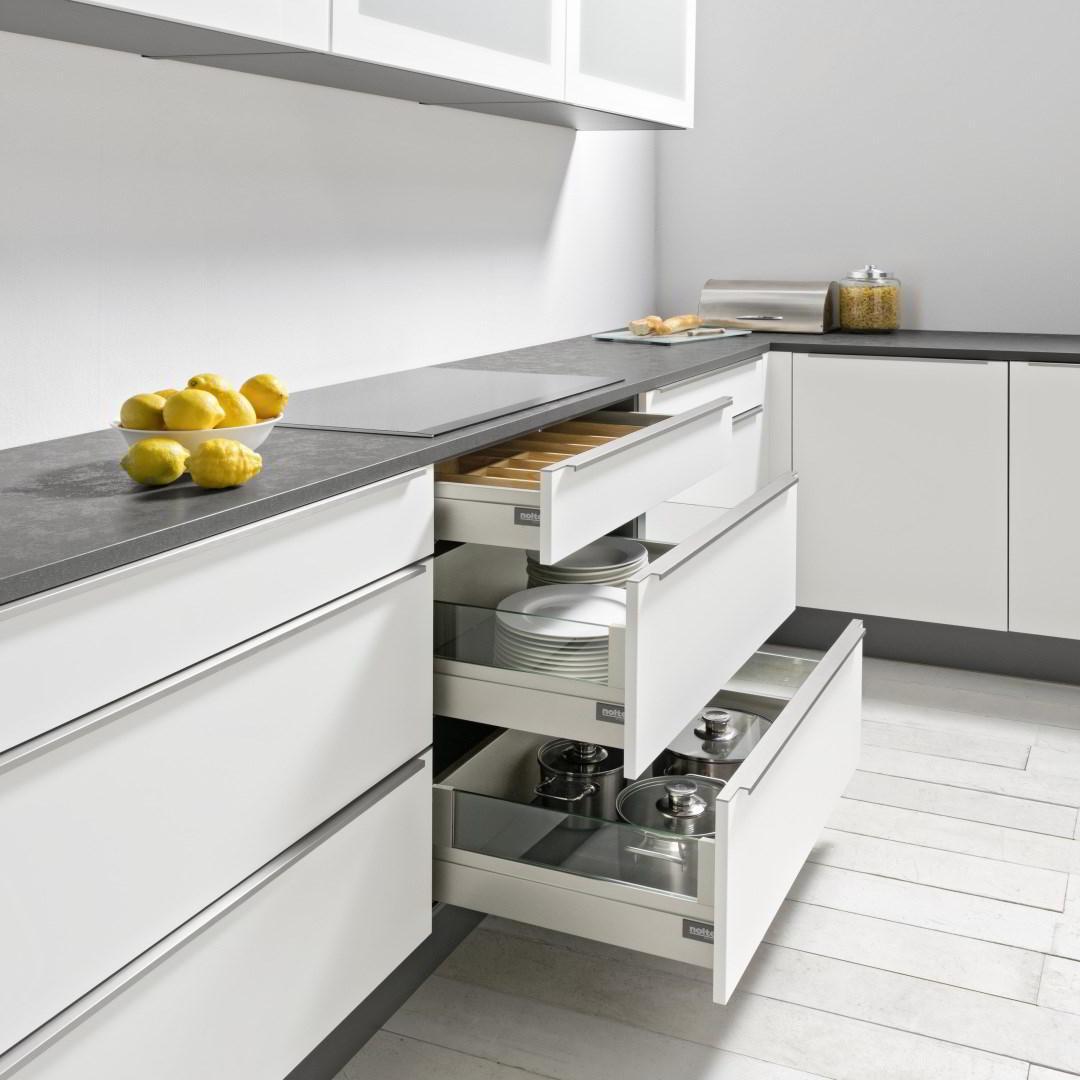 nolte szuflady glas line 4. Black Bedroom Furniture Sets. Home Design Ideas